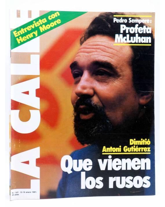 Cubierta de REVISTA LA CALLE 147. QUE VIENEN LOS RUSOS. HENRY MOORE (Vvaa) Cultura y Prensa 1981. TRANSICIÓN
