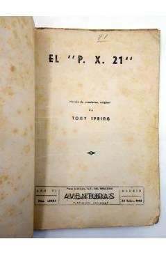 Muestra 1 de COLECCIÓN AVENTURAS - POLICIACA 81. P.X.-21 PX-21 (T.S. Stephan) Marisal 1942