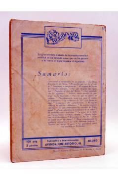 Contracubierta de COLECCIÓN AVENTURAS - POLICIACA 87. EL CHALET DE LOS LUNÁTICOS (J.J. Marine) Marisal 1942