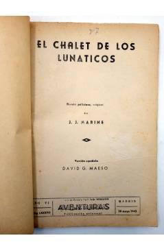 Muestra 1 de COLECCIÓN AVENTURAS - POLICIACA 87. EL CHALET DE LOS LUNÁTICOS (J.J. Marine) Marisal 1942