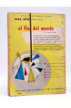 Contracubierta de MÁS ALLÁ. REVISTA MENSUAL DE FANTASÍA CIENTÍFICA 19. DICIEMBRE (Vvaa) Abril 1954