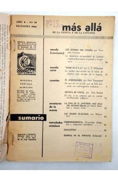 Muestra 1 de MÁS ALLÁ. REVISTA MENSUAL DE FANTASÍA CIENTÍFICA 19. DICIEMBRE (Vvaa) Abril 1954