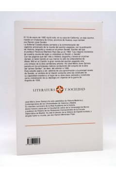 Contracubierta de LITERATURA Y SOCIEDAD 75. HISTORIA BIOGRAFÍA Y NOVELA EN EL PRIMER SENDER (José María Jover Zamora) Ca