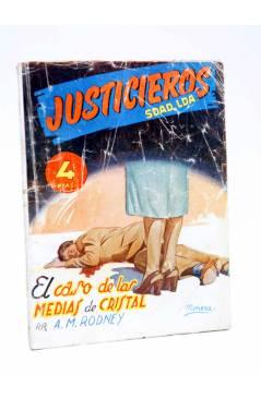 Cubierta de JUSTICIEROS SDAD. LDA. SOCIEDAD LIMITADA 4. EL CASO DE LAS MEDIAS DE CRISTAL (A.M.Rodney) Talismán 1950