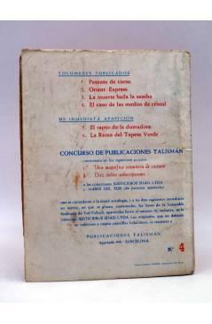 Contracubierta de JUSTICIEROS SDAD. LDA. SOCIEDAD LIMITADA 4. EL CASO DE LAS MEDIAS DE CRISTAL (A.M.Rodney) Talismán 195