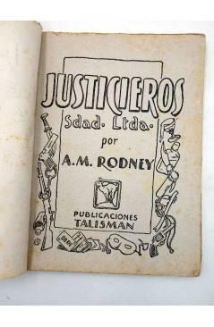 Muestra 1 de JUSTICIEROS SDAD. LDA. SOCIEDAD LIMITADA 4. EL CASO DE LAS MEDIAS DE CRISTAL (A.M.Rodney) Talismán 1950