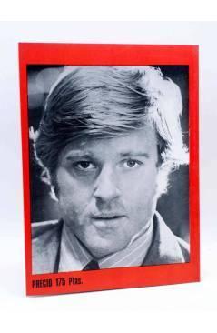 Contracubierta de ROBERT REDFORD. INÉDITO. UN TÍPICO AMERICANO (H. Von Sohel) Producciones Editoriales 1977