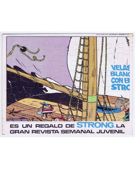Cubierta de REVISTA STRONG. PUZZLE VIEJO NICK VELAS BLANCAS BARBANEGRA 1 (Remacle) Argos 1970