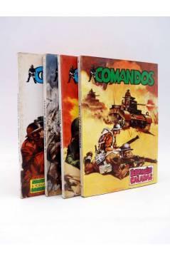 Contracubierta de COMANDOS 1 2 3 4. COMPLETA (Vvaa) Valenciana 1981