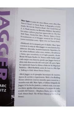 Contracubierta de MICK JAGGER REBELDE ROCKERO GRANUJA Y TROTAMUNDOS (Marc Spitz) Alba 2012