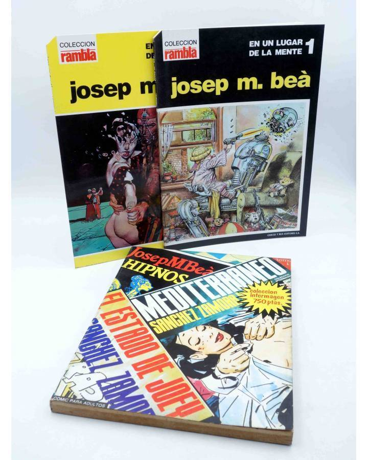 Cubierta de PACK JOSEP M. BEÀ. UN LUGAR DE MI MENTE + HIPNOS MEDITERRANEO FOBIA. Intermagen 1985