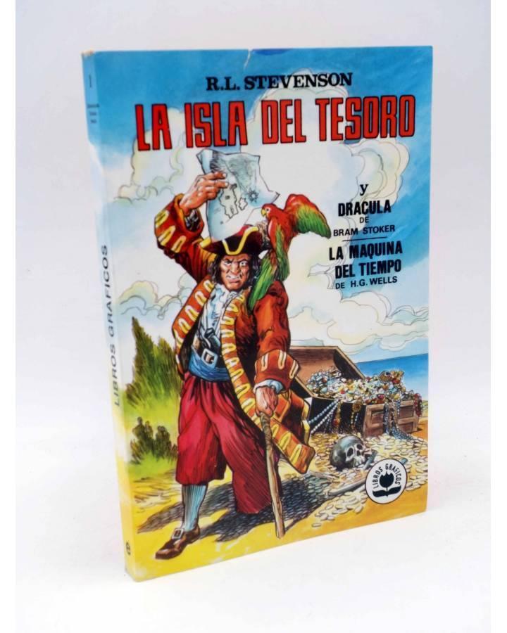 Cubierta de LIBROS GRÁFICOS 1. LA ISLA DEL TESORO DRÁCULA LA MÁQUINA DEL TIEMPO (A. Niño) Ediprint 1982