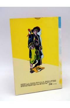 Contracubierta de LIBROS GRÁFICOS 1. LA ISLA DEL TESORO DRÁCULA LA MÁQUINA DEL TIEMPO (A. Niño) Ediprint 1982