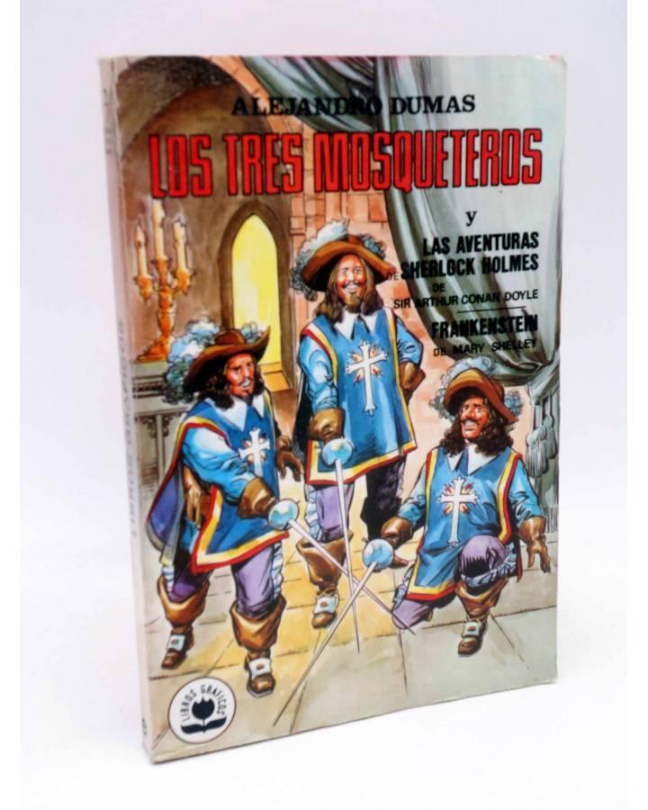 Cubierta de LIBROS GRÁFICOS 2. TRES MOSQUETEROS FRANKENSTEIN S. HOLMES (Redondo / Niño) Ediprint 1982