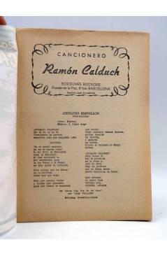 Muestra 1 de CANCIONERO. RAMÓN CALDUCH. Bistagne 1959