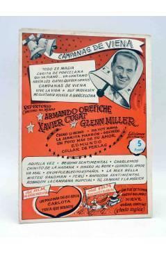 Cubierta de CANCIONERO. CAMPANAS DE VIENA XAVIER CUGAT GLENN MILLER. Bistagne Circa 1950