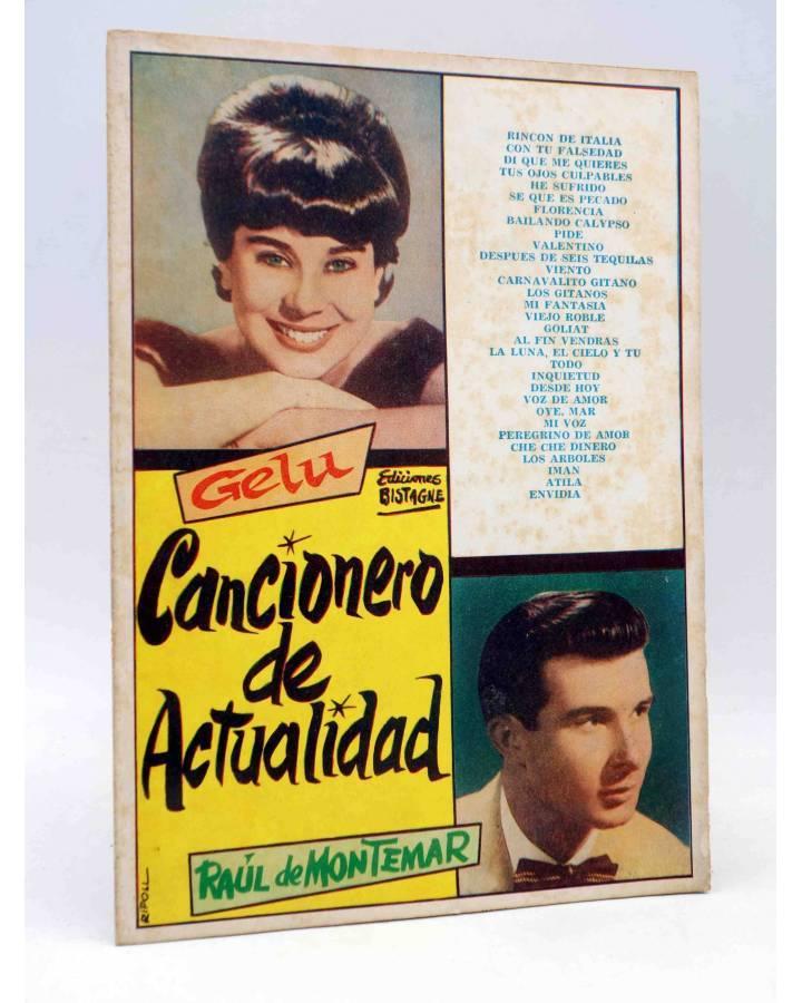 Cubierta de CANCIONERO DE ACTUALIDAD.. GELU DE MONTEMAR. Bistagne 1961