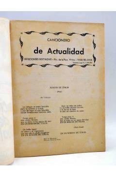 Muestra 1 de CANCIONERO DE ACTUALIDAD.. GELU DE MONTEMAR. Bistagne 1961