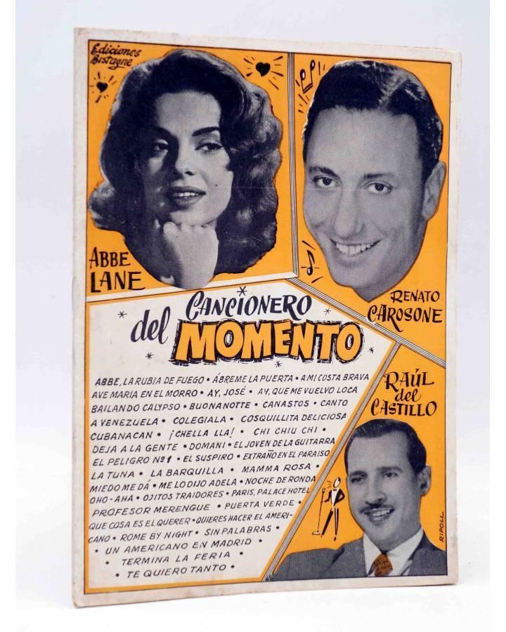 Cubierta de CANCIONERO DEL MOMENTO.. ABBE LANE CAROSONE DEL CASTILLO. Bistagne Circa 1950