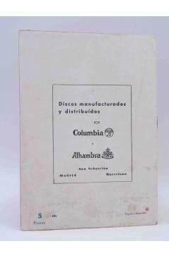 Contracubierta de CANCIONERO DEL MOMENTO.. ABBE LANE CAROSONE DEL CASTILLO. Bistagne Circa 1950