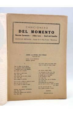 Muestra 1 de CANCIONERO DEL MOMENTO.. ABBE LANE CAROSONE DEL CASTILLO. Bistagne Circa 1950