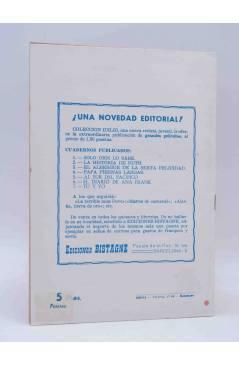 Contracubierta de CANCIONERO. DEL MOMENTO. Bistagne 1961