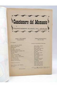 Muestra 1 de CANCIONERO. DEL MOMENTO. Bistagne 1961