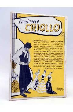 Cubierta de CANCIONERO CRIOLLO. SELECCIÓN DE ÉXITOS. Bistagne Circa 1950