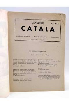 Muestra 1 de CANCIONERO 237. CANÇONER CATALÀ. JM SERRAT LLUIS LLACH ALBERO…. Bistagne 1968