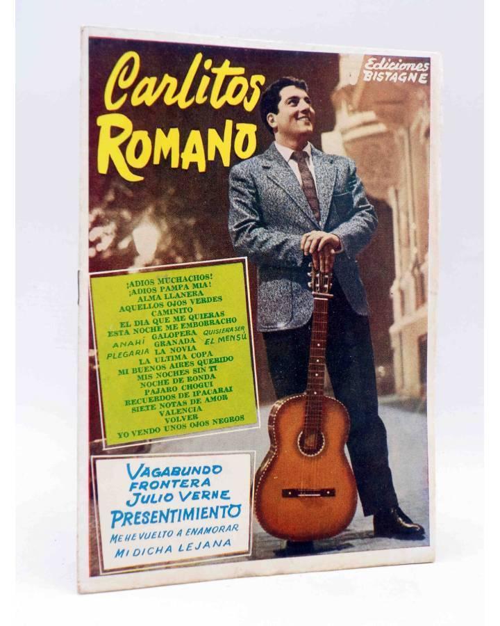 Cubierta de CANCIONERO. CARLITOS ROMANO EXITOS ZAFIRO. CANCION JULIO VERNE. Bistagne 1958