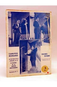 Contracubierta de CANCIONERO. CARLITOS ROMANO EXITOS ZAFIRO. CANCION JULIO VERNE. Bistagne 1958
