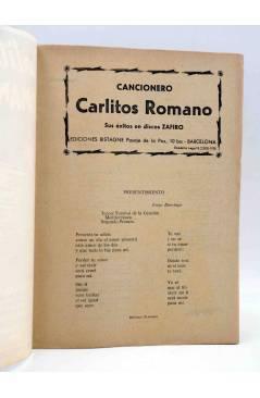 Muestra 1 de CANCIONERO. CARLITOS ROMANO EXITOS ZAFIRO. CANCION JULIO VERNE. Bistagne 1958