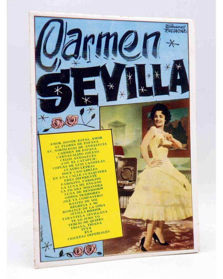 Cubierta de CANCIONERO. CARMEN SEVILLA. Bistagne 1961