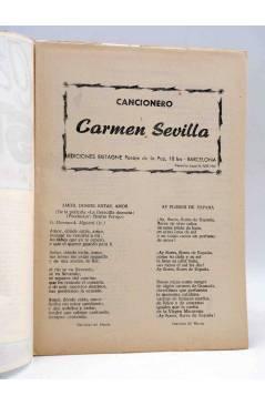 Muestra 1 de CANCIONERO. CARMEN SEVILLA. Bistagne 1961