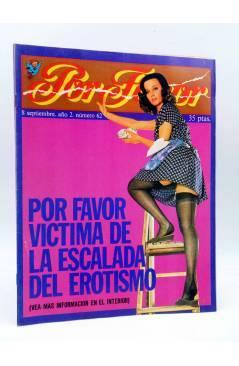 Cubierta de REVISTA POR FAVOR 62. POR FAVOR VÍCTIMA DE LA ESCALADA DEL EROTISMO (Vvaa) Garbo 1975