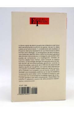 Contracubierta de BIBLIOTECA BÁSICA ESPACIO TIEMPO 40. PROYECTO GENOMA (David Ribes) Espacio y Tiempo 1992
