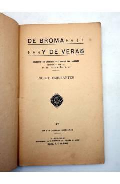 Muestra 1 de DE BROMA Y DE VERAS 17. SOBRE EMIGRANTES (No Acreditado) El Mensajero del Corazón de Jesús Circa 1910