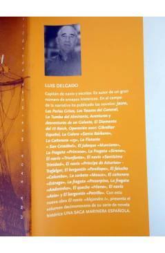 Contracubierta de UNA SAGA MARINERA ESPAÑOLA 19. EL NAVÍO ALEJANDRO I. LA ESCUADRA DEL ZAR (Luís Delgado) Noray 2011