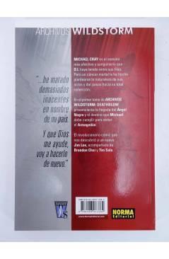 Contracubierta de ARCHIVOS WILDSTORM. DEATHBLOW 1 Y 2. COMPLETA (Jim Lee / Choi / Tim Sale) Norma 2009