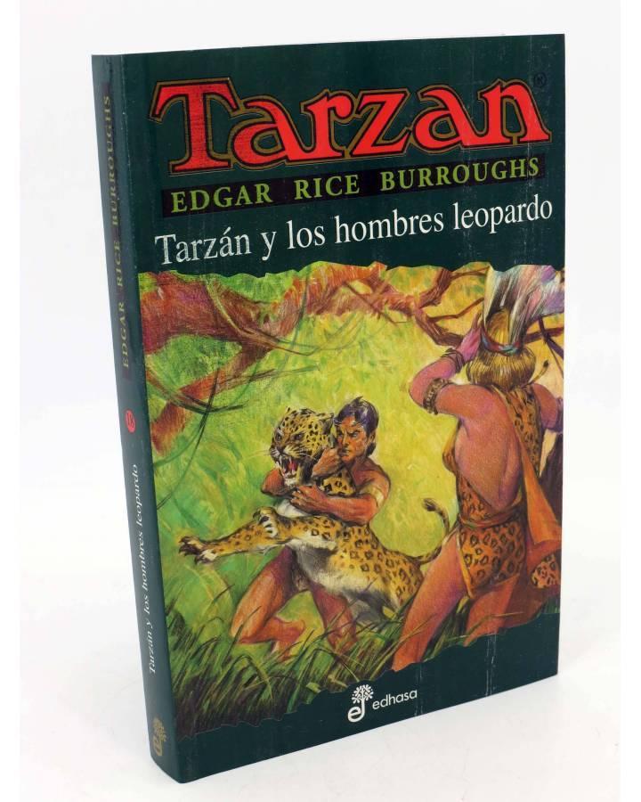 Cubierta de TARZAN 18. TARZÁN Y LOS HOMBRES LEOPARDO (Edgar Rice Burroughs) Edhasa 2004