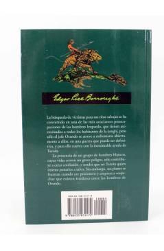 Contracubierta de TARZAN 18. TARZÁN Y LOS HOMBRES LEOPARDO (Edgar Rice Burroughs) Edhasa 2004