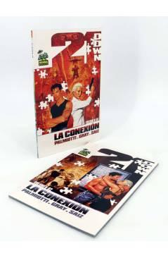 Contracubierta de 21 DOWN: LA CONEXIÓN 1 Y 2. COMPLETA (Justin Gray / Jesús Saiz) Norma 2008