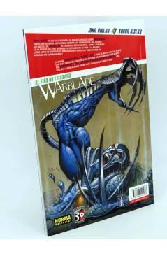 Contracubierta de WARBLADE. EL FILO DE LA NAVAJA (John Ridley / Simon Bisley) Norma 2007