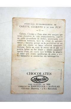 Muestra 3 de AVENTURAS EXTRAORDINARIAS DE CAÑETE CLORATO Y SU FIEL PUM. LOTE CON 34 DE 36 CROMOS. Chocolates Amatller Ci
