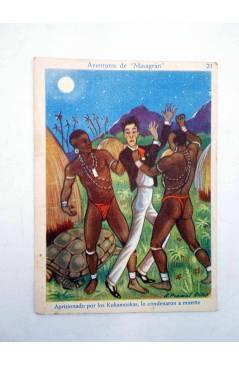 Muestra 6 de AVENTURAS DE MASAGRÁN COLECCIÓN DE 30 CROMOS. 1 A 30. COMPLETA (A. Pascual Antolí) Chocolates Amatller Circ