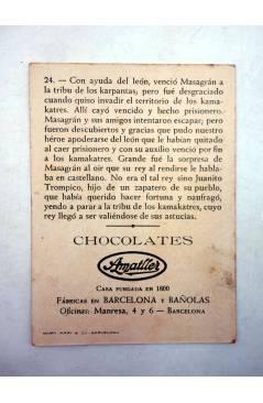 Muestra 8 de AVENTURAS DE MASAGRÁN COLECCIÓN DE 30 CROMOS. 1 A 30. COMPLETA (A. Pascual Antolí) Chocolates Amatller Circ