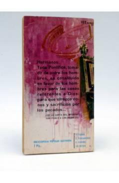 Contracubierta de ENCICLOPEDIA POPULAR ILUSTRADA SERIE P 26bis. JUAN XXIII (Dottore Carlo Cesarini) G.P. 1963
