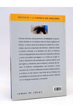 Contracubierta de INTELECTUALES. FRIEDRICH NIETZSCHE Y LA VIGENCIA DEL NIHILISMO (Rubén H. Ríos) Campo de Ideas 2004