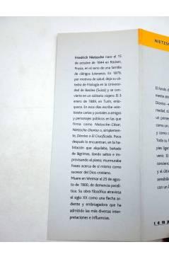Muestra 4 de INTELECTUALES. FRIEDRICH NIETZSCHE Y LA VIGENCIA DEL NIHILISMO (Rubén H. Ríos) Campo de Ideas 2004