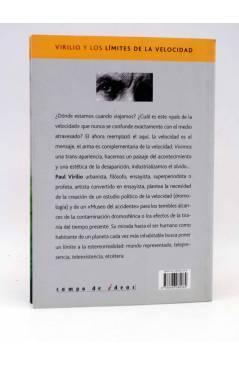 Contracubierta de INTELECTUALES. PAUL VIRILIO Y LOS LÍMITES DE LA VELOCIDAD (Santiago Rial Ungaro) Campo de Ideas 2003